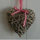 Willow Weaving Heart Wicker Decoration For Home Garden Basket