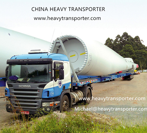 Wind Blade Trailer Extendable Semi Lowbed China Heavy Transporter