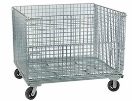 Wire Containers With Casters For Automobile Industries