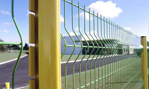 Wire Mesh Fence With Peach Type Post
