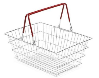 Wire Shopping Basket For Self Service Quick Shops