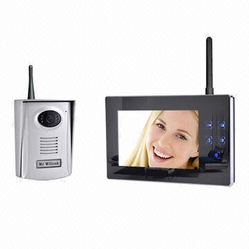 Wireless 2 4ghz Video Door Phone Manufacture 7 Inch Mirror Surface Recording 300m Distance Color