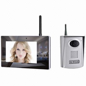 Wireless Video Door Phone 2 4ghz Digital 7 Inch Lcd Touch Button Monitor Screen 300m Distance