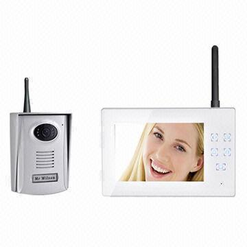 Wireless Video Door Phone Manufacture 2 4ghz 7 Inch Touch Button Recording 300m Distance Color