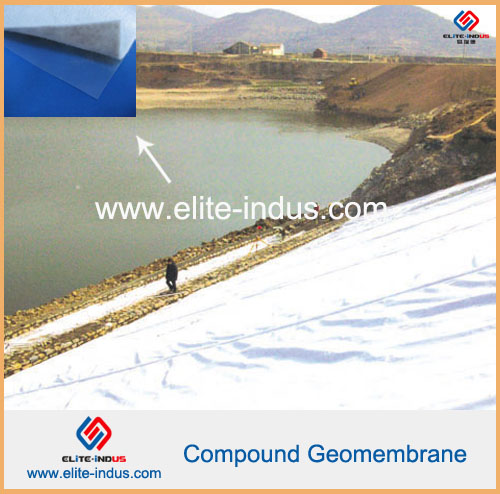 With Nonwoven Geotextile And Membrane Compound Geomembrane