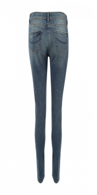 Women Embroidered Patched Jeans