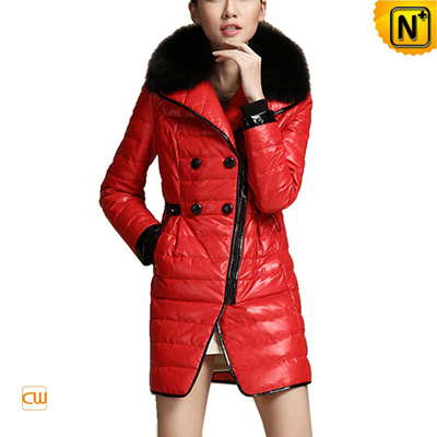 Women S Designer Real Leather Coats Down Padded
