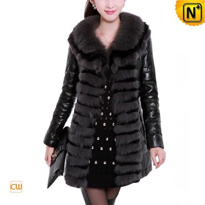 Women S Rabbit Fur Sheepskin Leather Down Coat