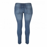 Women Skinny Jeans Mid Blue Dark Blues