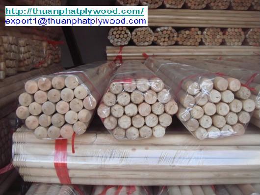 Wood Broomstick From Vietnam