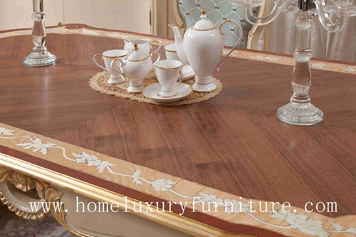 Wood Dining Table Squre Ft105 Antique 6 Solid