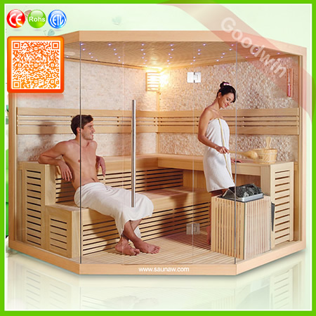 Wood Steam Sauna Room Bath