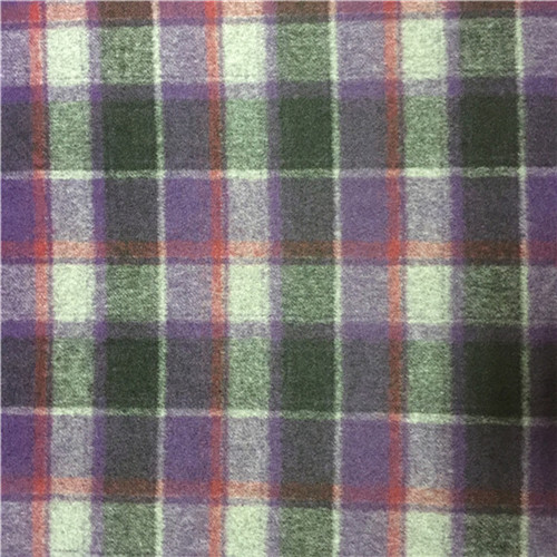 Wool Blended Fabric Plaid