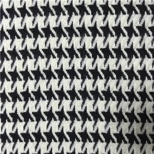 Wool Blended Fabric Swallow Grid