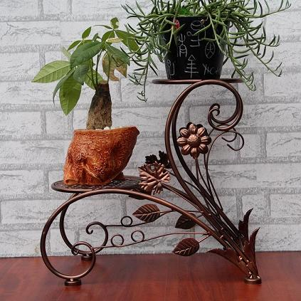 Wrought Iron Flowerpot Frame