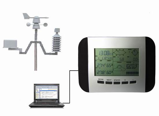 Ws1041 Profession Weather Station With Solar And Pc Link