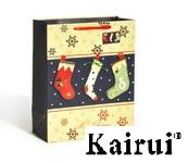 X Mas Sock Design 3d Christmas Paper Bag Kr232 2