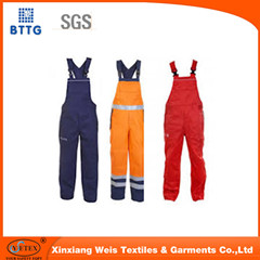 Xinxiang Good Quality Uniform Working Bib Pants For Welding Industry