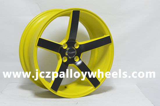 Yellow Machined Face Car Rims 16x7 5