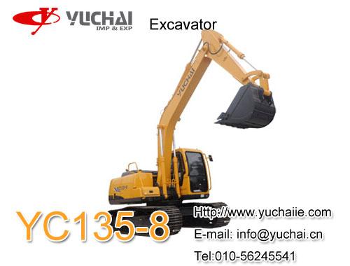 Yuchai Yc135 8 13 5 Ton Excavator