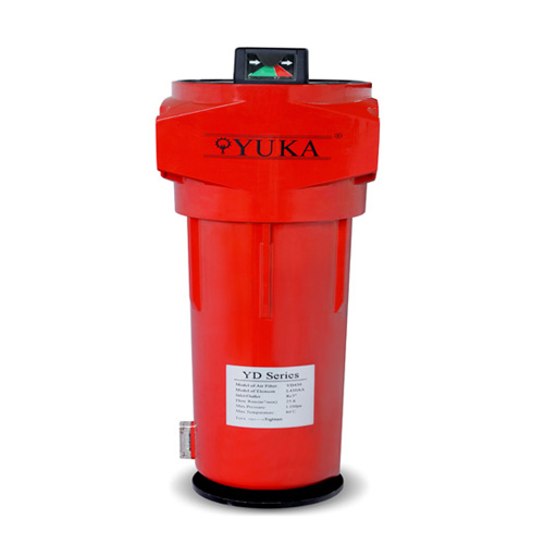 Yuka Brand Good Quality Coalescing Compressed Air Filter Inlet Outlet 2