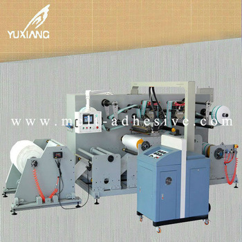 Yx 506 Hot Melt Adhesive Coating Machine Controlled By Servo Motor