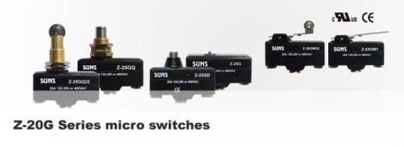 Z 20g Series Micro Switches