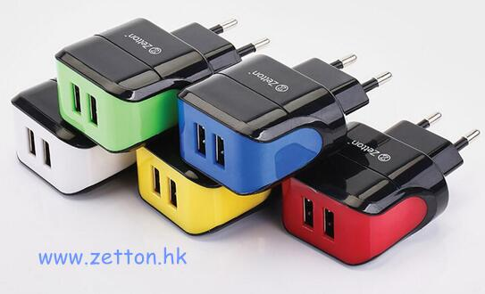 Zetton Mini Usb Portable Travel Charger 2 1a With Two Output Delicate Package