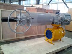 Zigong Cast Steel Trunnion Mounted Ball Valve
