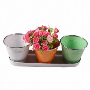 Zinc Garden Basket Iron Flower Planter