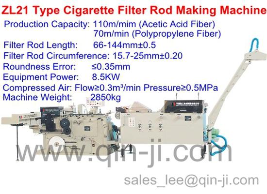 Zl21 Cigarette Filter Rod Making Machine