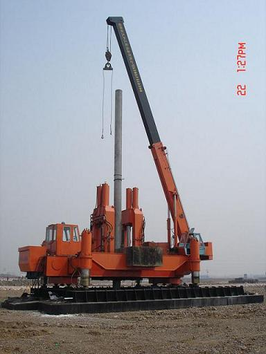 Zyc600b Hydraulic Static Pile Driver