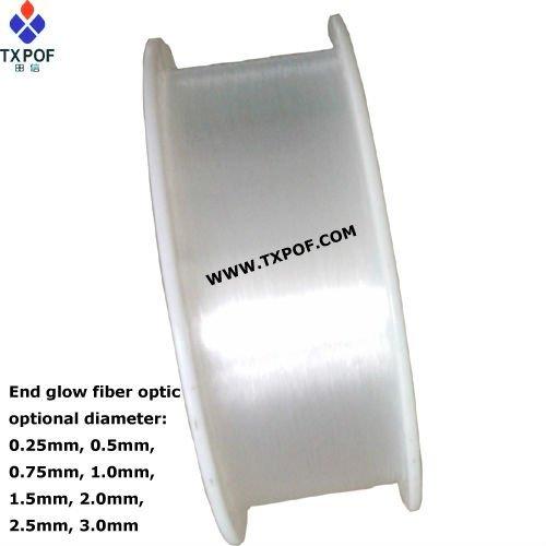 0 75mm Plastic Light Optical Fiber For Lighting And Decoration