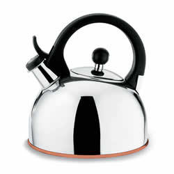 1 5l Stainless Steel Whistling Tea Kettle With Copper Base