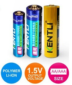 1 5v Rechargeable Aa Lithium Ion Battery 2400mwh High Power