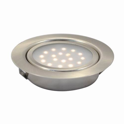 1 6w Led Recessed Round Swivel Under Cabinet Puck Light