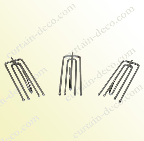 1 9mm Metal Pleat Curtain Hook