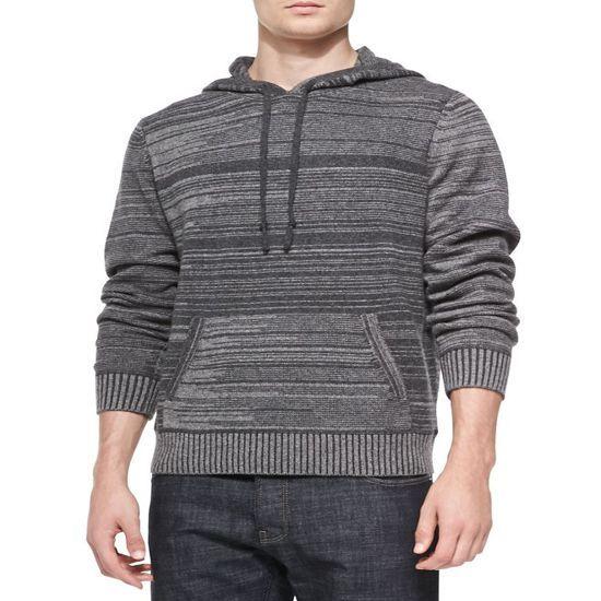 100 Cashmere Hoodie Men Sweater