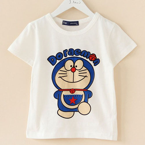 100 Cotton Cartoon Printed T Shirts For Child