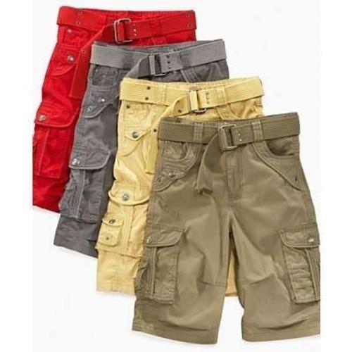 100 Cotton Mens Cargo Shorts