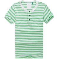 100 Men Cotton Horizontal Striped T Shirt For Retail