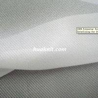 100 Polyester Double Dot Warp Knitting Fusible Interlining For Suit Uniform