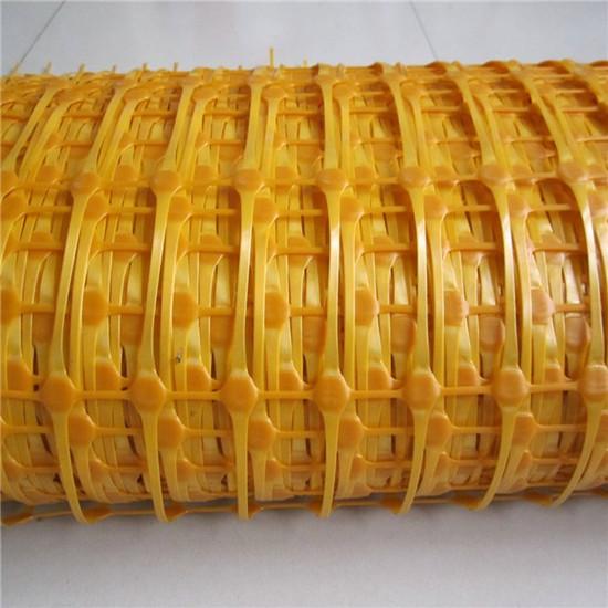 100x40mm Opening Size Orange Plastic Safe Netting Warning Mesh