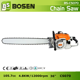 105cc Big Gasoline Chain Saw With 36 Guide Bar