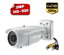 1080p Hd Sdi Varifocal Lens Wdr Waterproof Ir Bullet Cctv Security Camera S