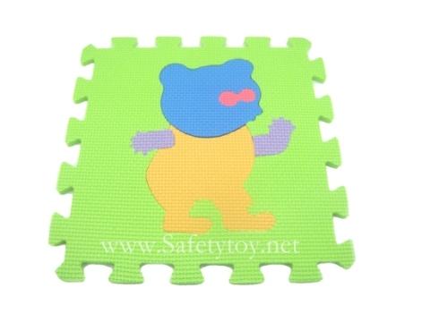 10pcsx Eva Puzzle Mats Kids Cartoon 65288 Animal 65289
