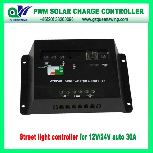 12 24v 30a Led Digital Display Pwm Solar Charge Controller