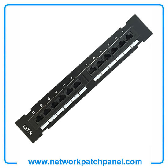 12 Port Utp Unshielded Cat 5e Patch Panel