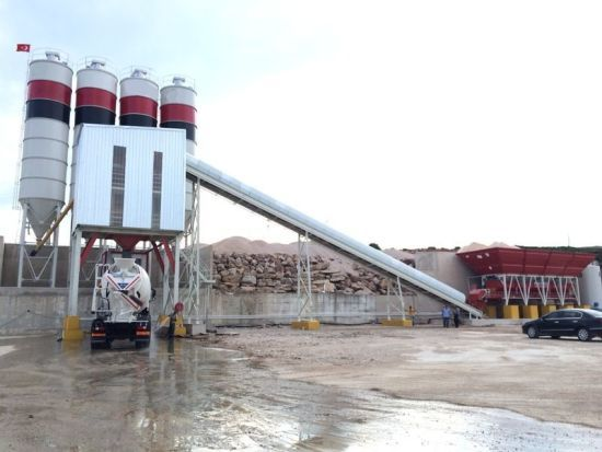 120 M3 H Stationary Concrete Batching Plants
