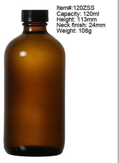 120ml Glass Amber Medicine Bottle